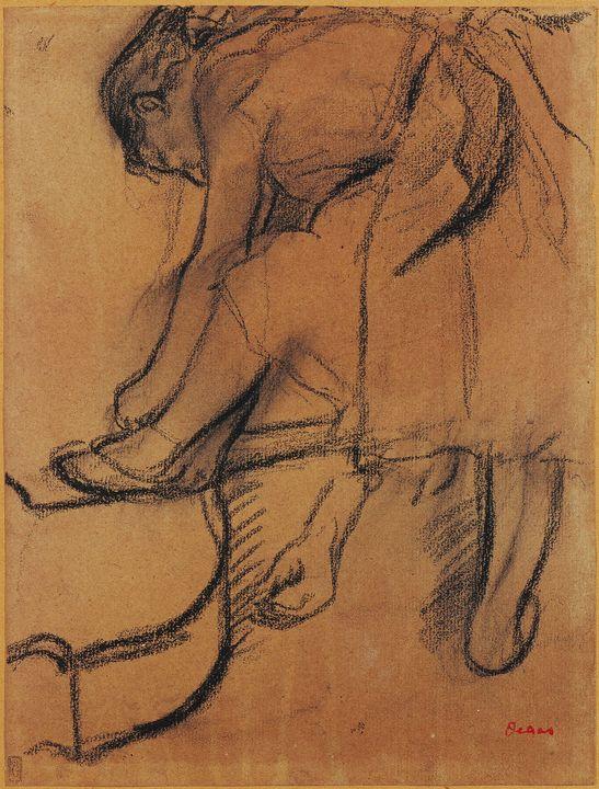 Edgar Degas~Dancer Adjusting Her Sli - Old master