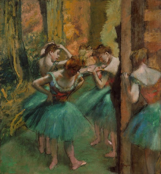Edgar Degas~Dancers, Pink and Green - Old master