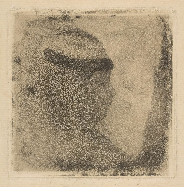 Edgar Degas~Head of a Woman in Profi - Old master