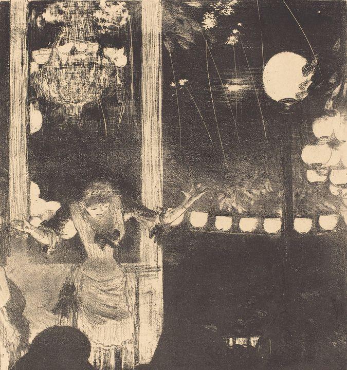 Edgar Degas~Mademoiselle Bécat at th - Old master