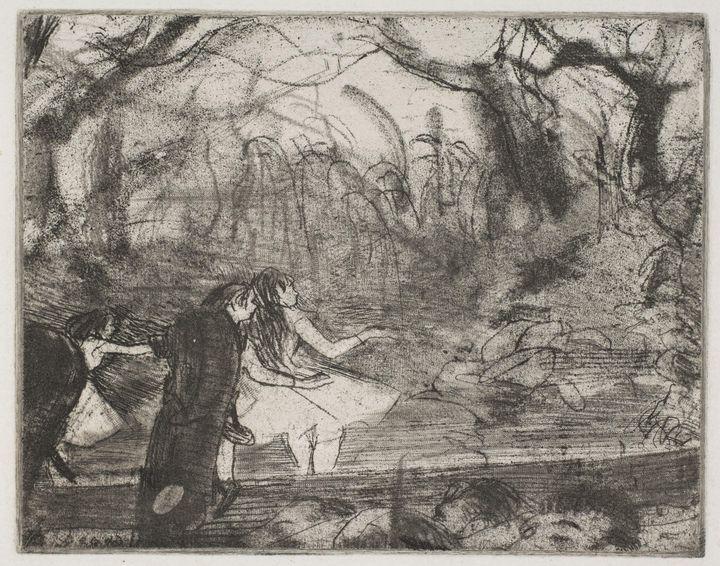Edgar Degas~On Stage III - Old master