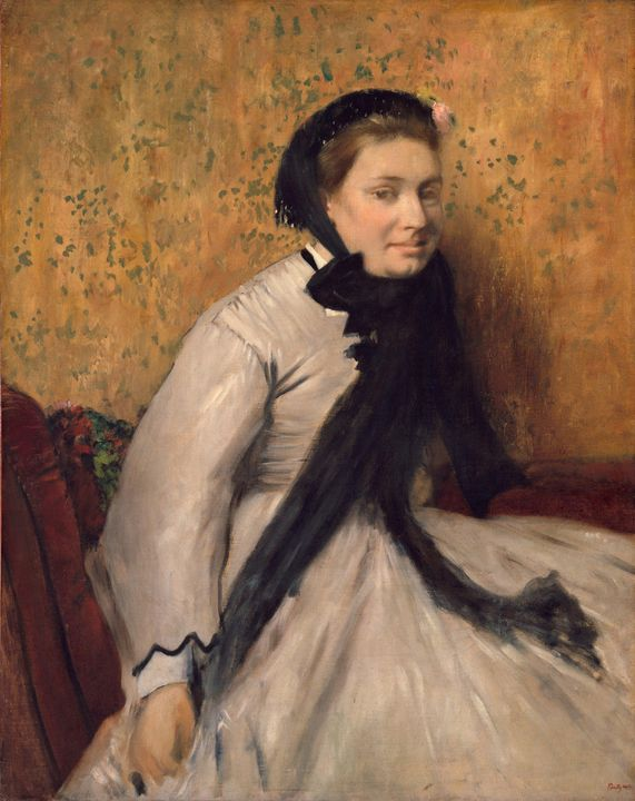 Edgar Degas~Portrait of a Woman in G - Old master