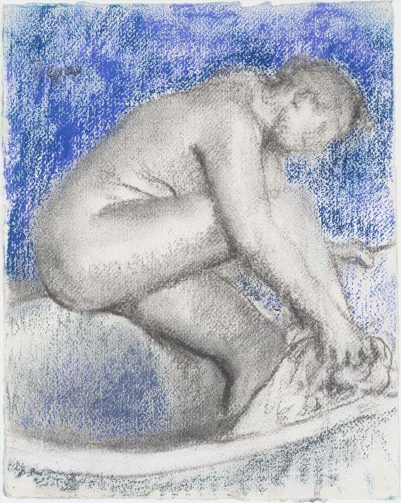Edgar Degas~The Bath - Old master