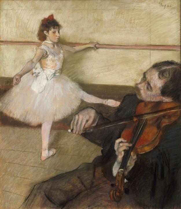 Edgar Degas~The Dance Lesson (2) - Old master