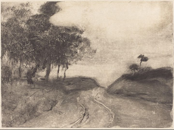 Edgar Degas~The Road (La route) - Old master