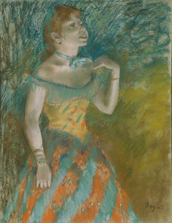 Edgar Degas~The Singer in Green - Old master