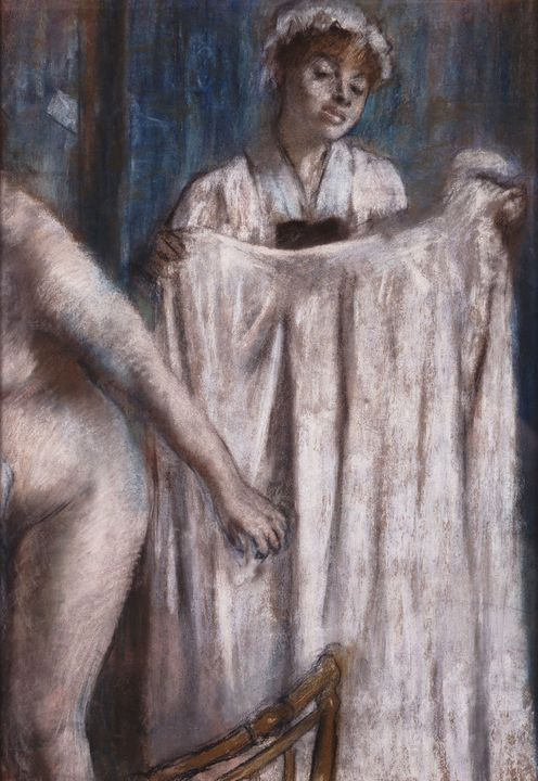Edgar Degas~Toilette after the Bath - Old master