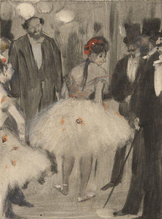 Edgar Degas~Virginie being Admired w - Old master