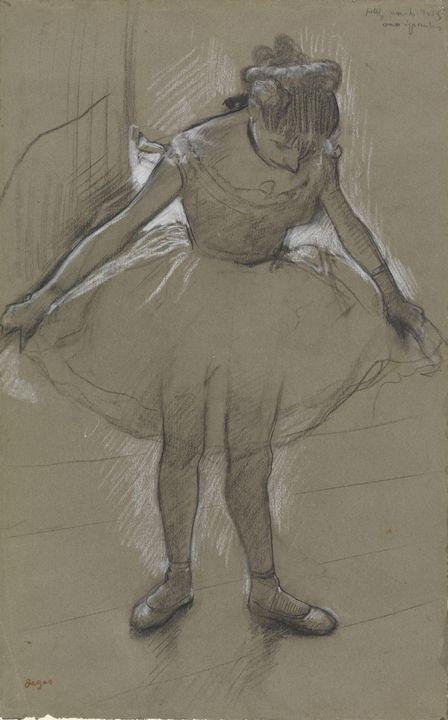 Edgar Degas~Young dancer standing - Old master