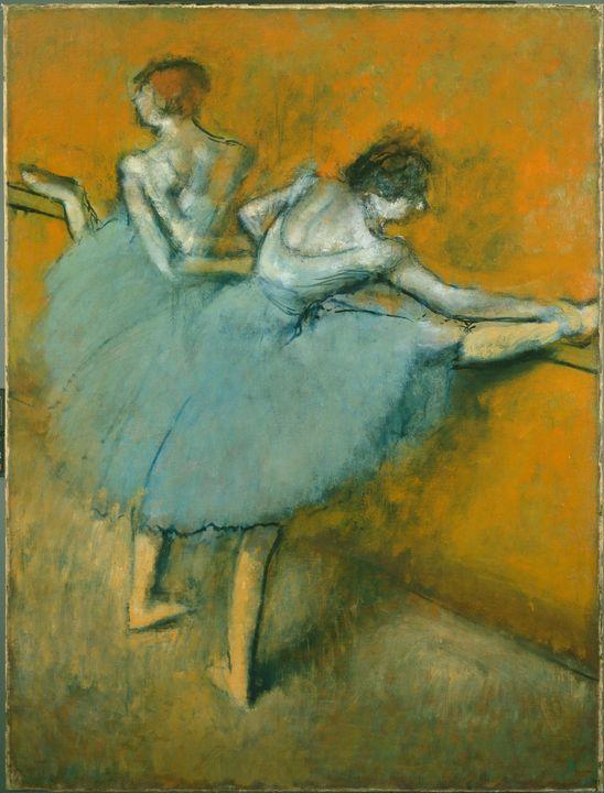 Edgar Dega~Dancers at the Barre - Old master