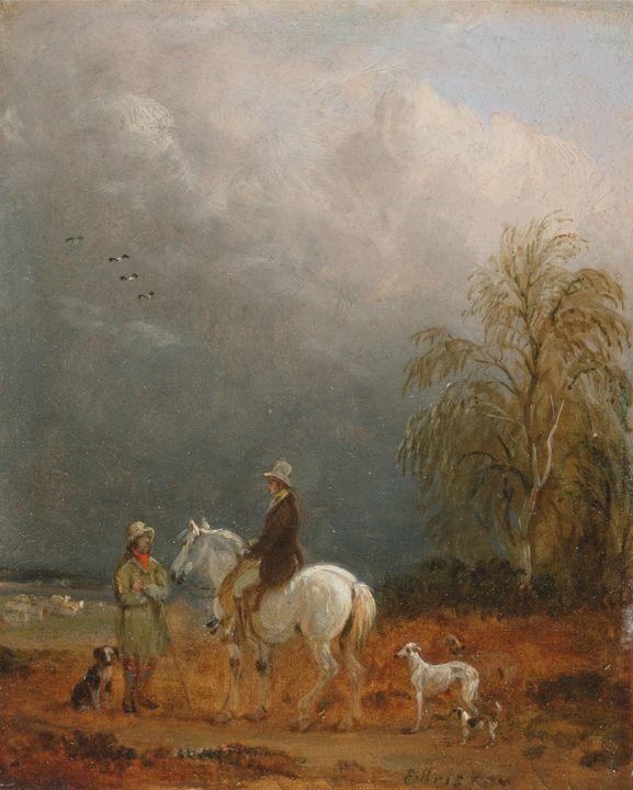 Edmund Bristol~A Traveller and a She - Old master