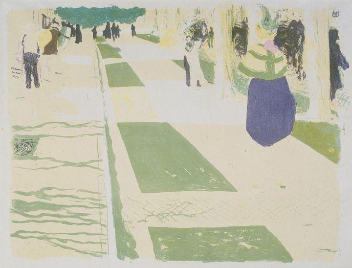 Edouard Vuillard~L'Avenue (The Avenu - Old master