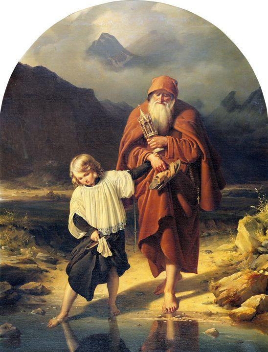 Eduard Daege~The Sacristan - Old master