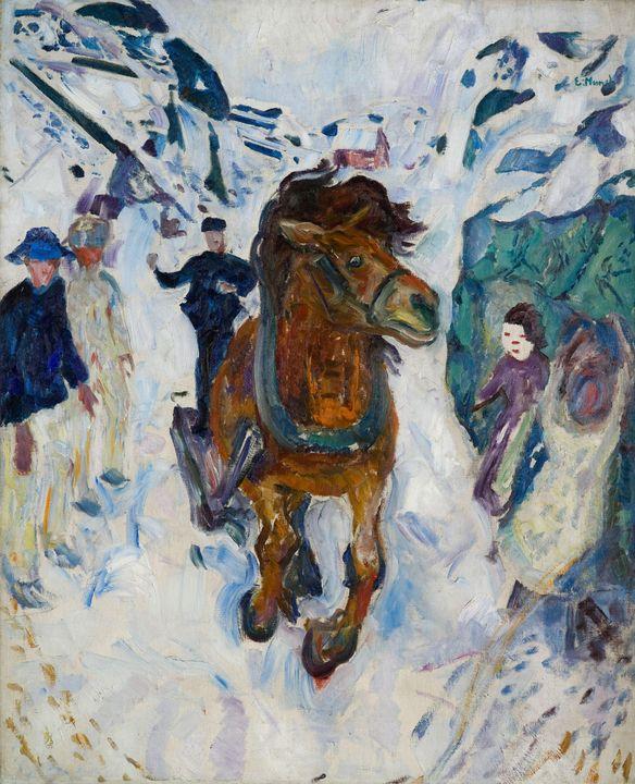 Edvard Munch~Galloping Horse - Old master