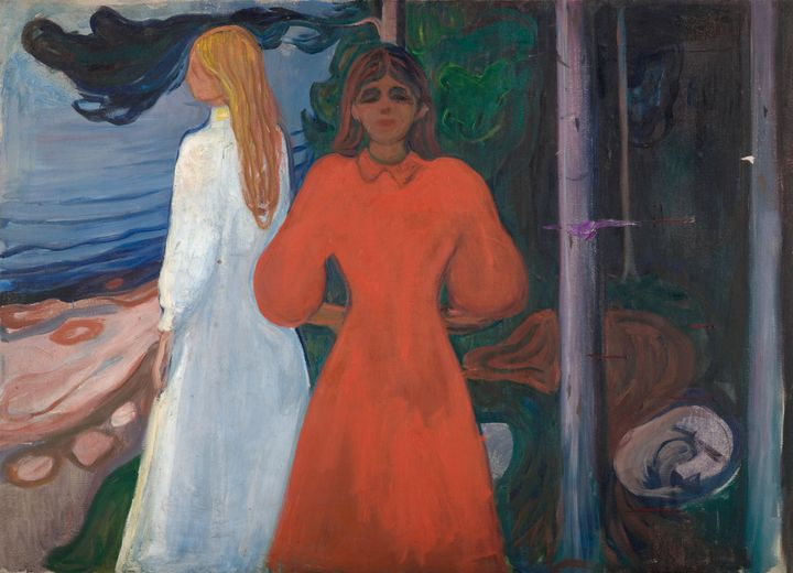 Edvard Munch~Red and White - Old master