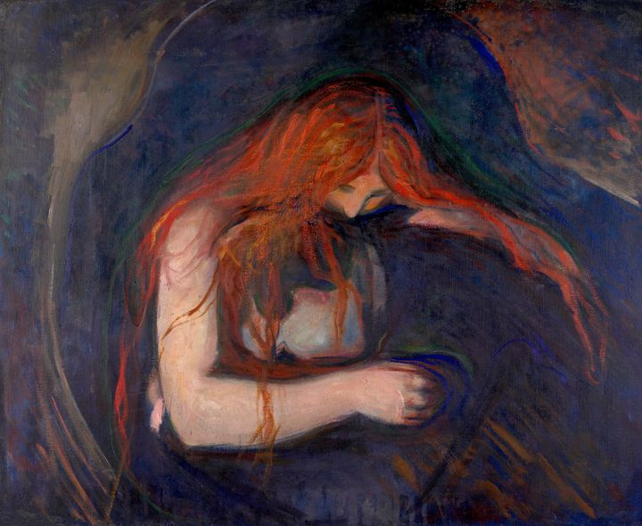 Edvard Munch~Vampire - Old master