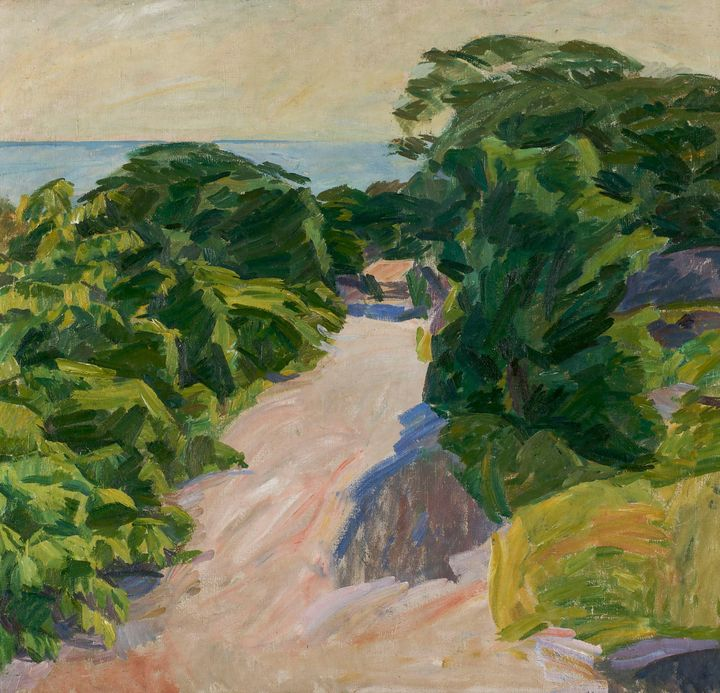 Edvard Weie~Forest road, Christiansø - Old master