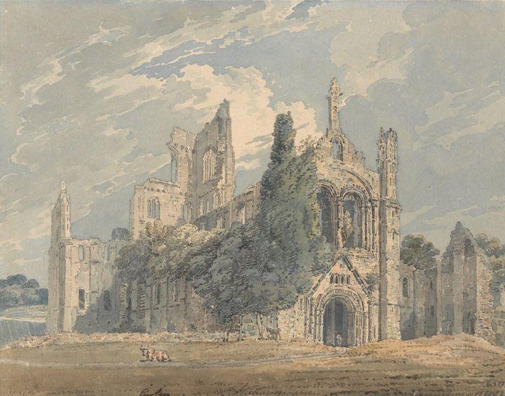Edward Dayes, Thomas Girtin~Kirkstal - Old master
