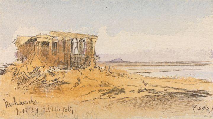 Edward Lear ~ Maharraka, 715 am, 14 - Old master
