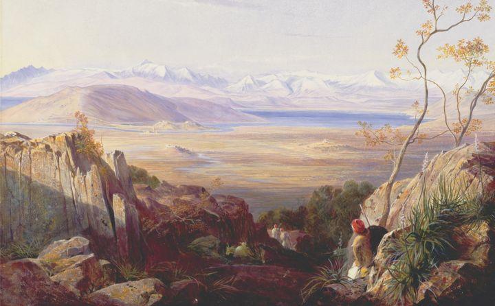 Edward Lear~Butrinto, Albania - Old master