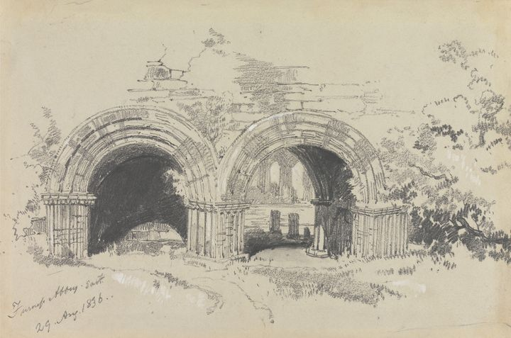 Edward Lear~Furness Abbey East, 29 A - Old master