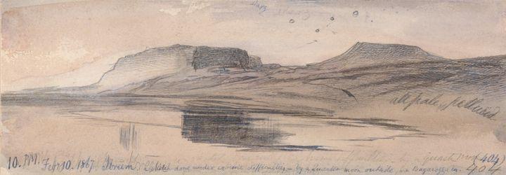 Edward Lear~Ibreem, 1000 pm, 10 Febr - Old master