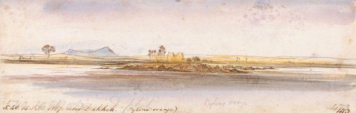 Edward Lear~Near Dakkeh - Old master