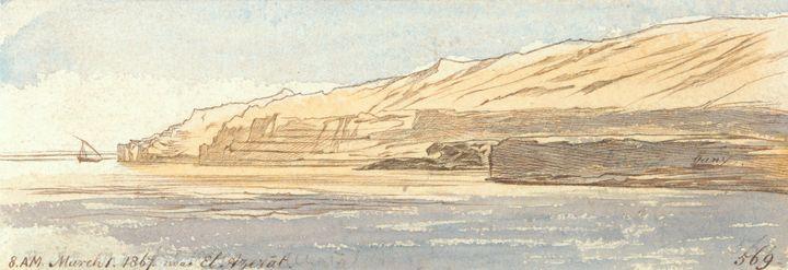 Edward Lear~Near El Azerat - Old master
