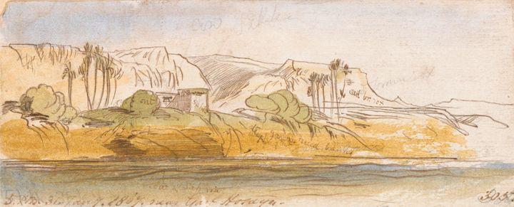 Edward Lear~Near Garf Hosayn - Old master