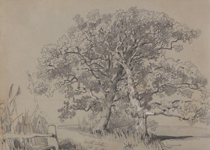 Edward Lear~North Stoke. Oct. 21.183 - Old master