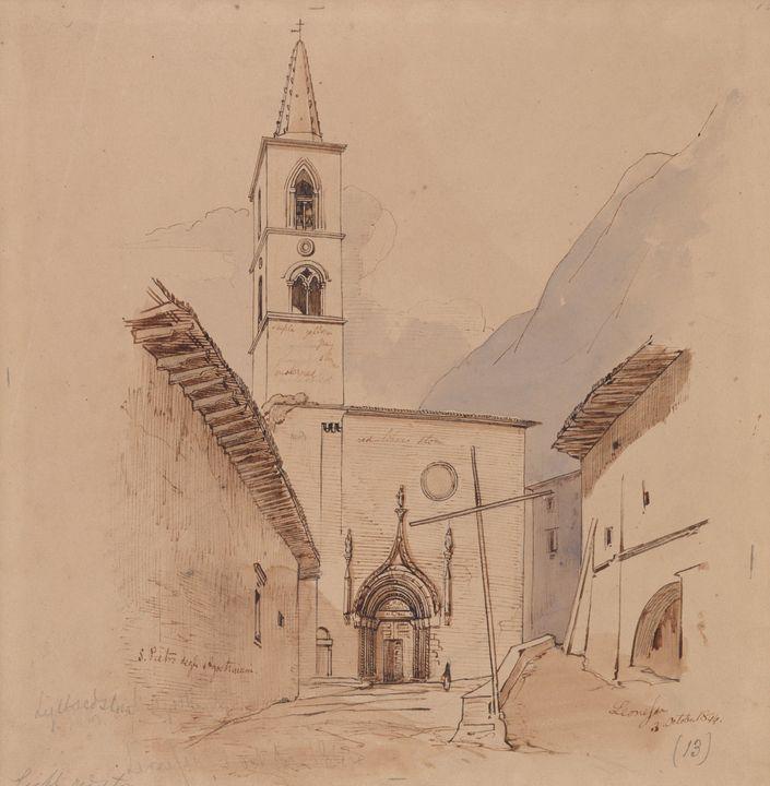 Edward Lear~S. Pietro Degli Agostini - Old master