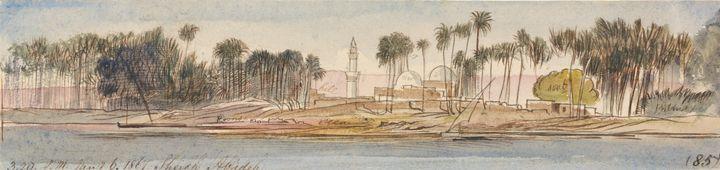 Edward Lear~Sheikh Abadeh, 320 pm, 6 - Old master