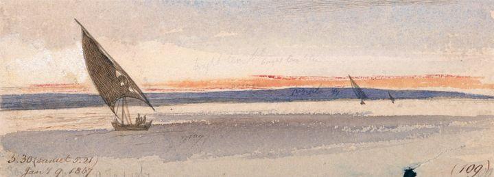 Edward Lear~Sunset - Old master