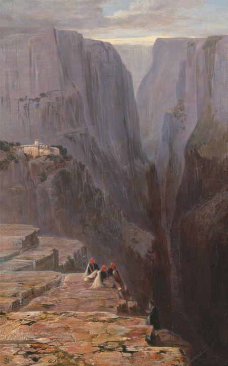 Edward Lear~Zagori, Greece - Old master