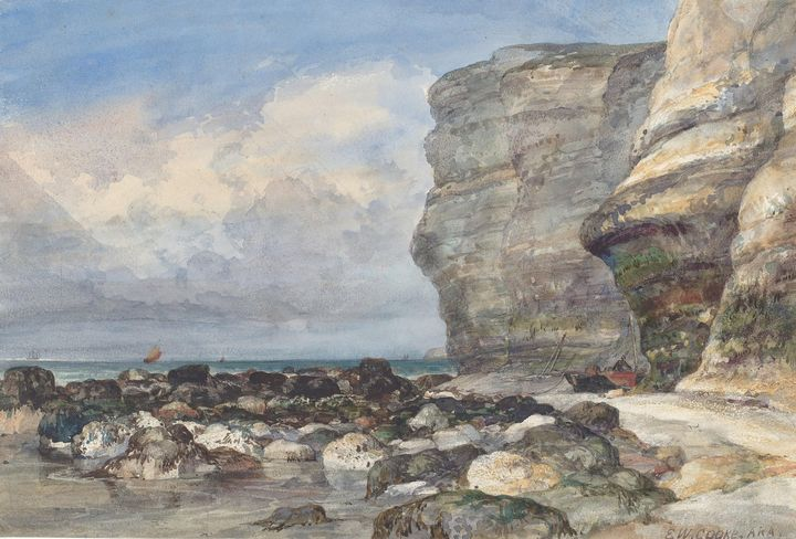 Edward William Cooke~The Rocky Beach - Old master