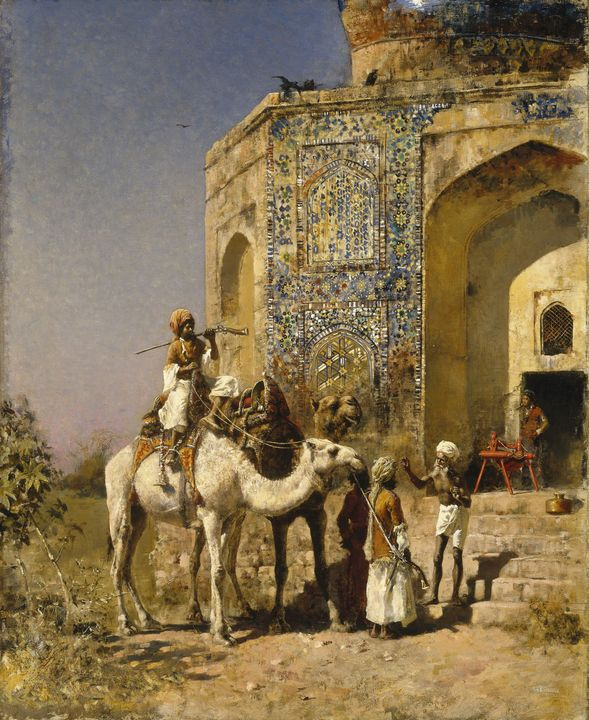 Edwin Lord Weeks~The Old Blue-Tiled - Old master