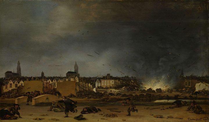 Egbert van der Poel~The explosion of - Old master