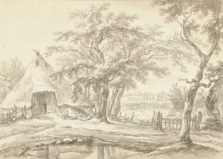 Egbert van Drielst~Boerderij te West - Old master