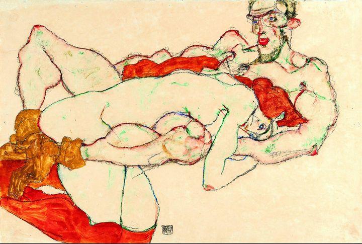 Egon Schiele~Lovers9386 - Old master