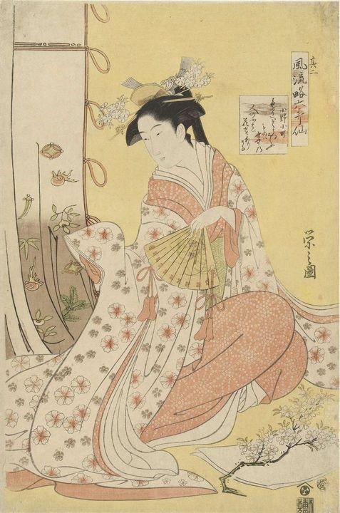 Eishi~Dichteres Ono no Komachi - Old master