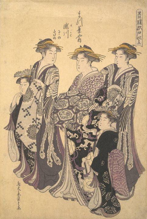 Eishi~Seiryu EdoCourtesan District o - Old master