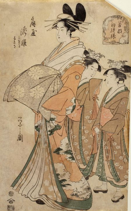 Eishi~The Courtesan Takihime of the - Old master