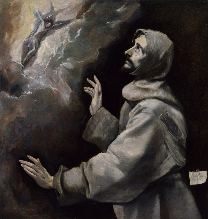 El Greco~Saint Francis Receiving the - Old master