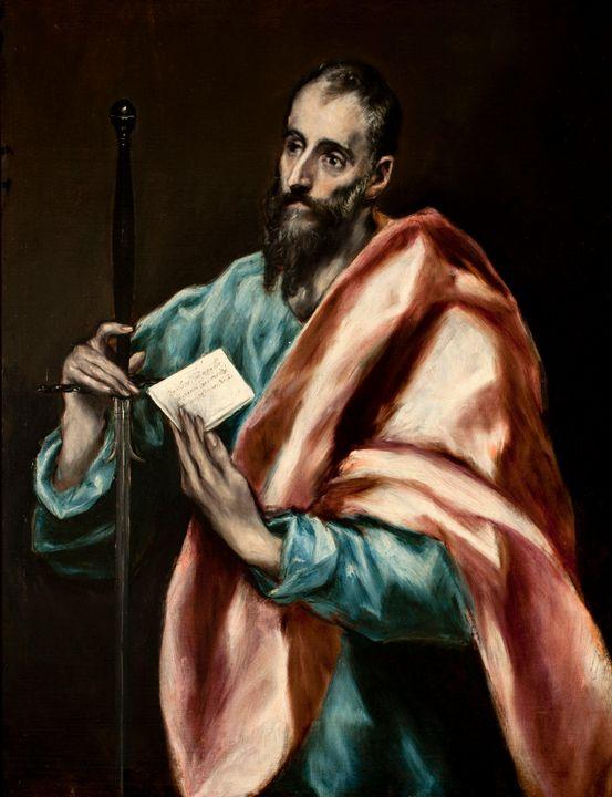 El Greco~St. Paul - Old master