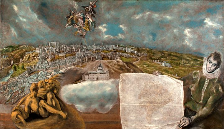 El Greco~View and Plan of Toledo - Old master