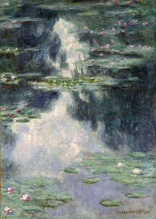 Claude Monet~Pond with Water Lilies - Old master