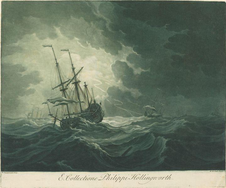 Elisha Kirkall~Shipping Scene from t - Old master