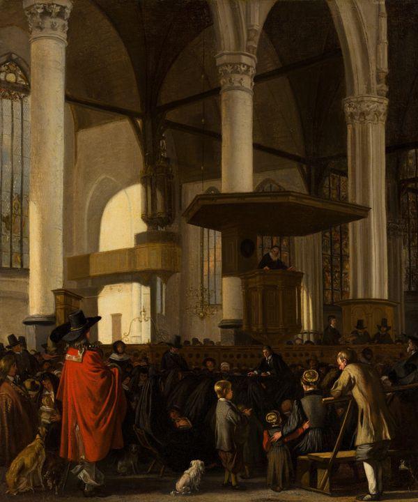 Emanuel de Witte~The Oude Kerk in Am - Old master