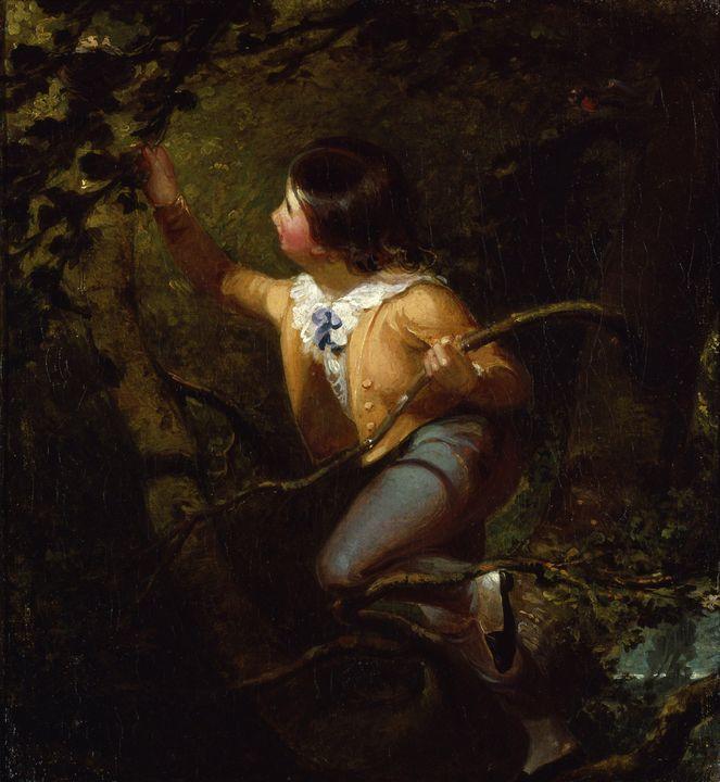Emanuel Leutze~Bird Nesting - Old master