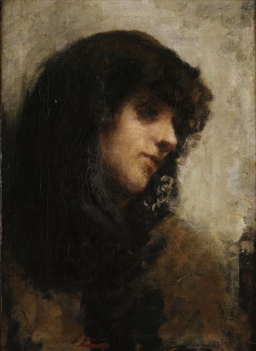 Emilio Gola~Woman's portrait - Old master